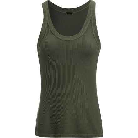 Monrow Rib Scoop Tank Top - Women's