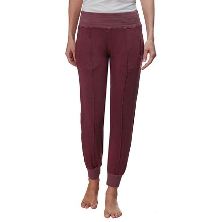 Monrow Supersoft High Waisted Stitched Cuff Sweat Pant - Women's