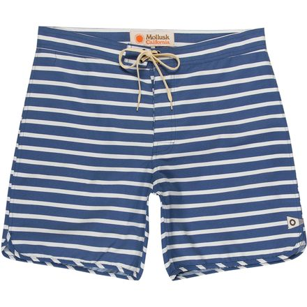 Mollusk Cut Out Stripes Swim Trunk - Men's