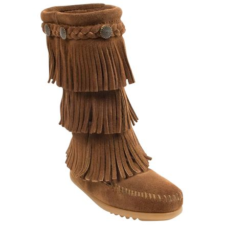 Minnetonka 3-Layer Fringe Boot - Girls'