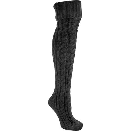 Muk-Luks Cable Knit Over the Knee Socks - Women's