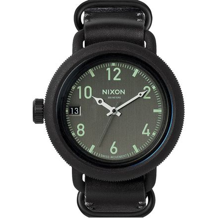 Nixon October Leather Watch - Men's