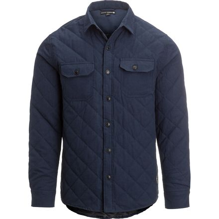 Ocean Current Iceland Black Button Down Shirt Jacket - Men's