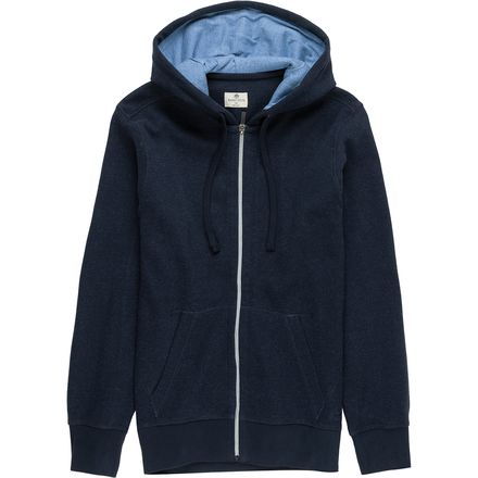 Rainforest Sweater Hoodie with Contrast Lined Hood - Men's