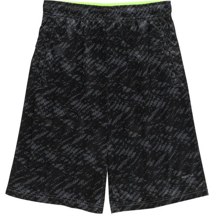 RPX Poly Printed Knit with 2 Slot Pocket Drawstring Waist Active Short - Men's