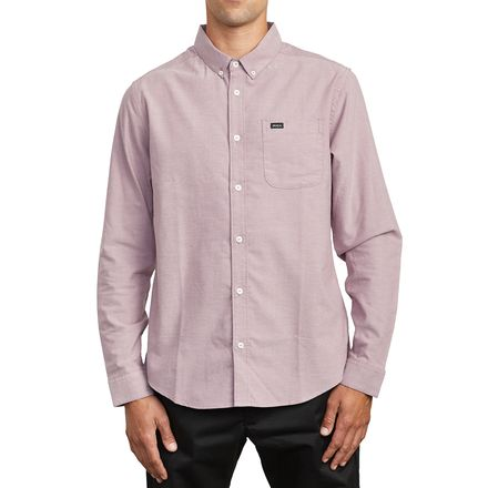 Merlot All Sizes Details about  /Rvca Thatll Do Stretch Shirt