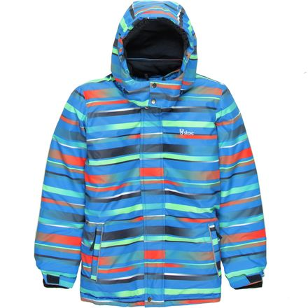 Stoic Alpino Striped Ski Jacket - Boys'
