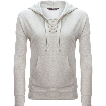 Stoic Lace Up Hooded Pullover Sweatshirt - Women's