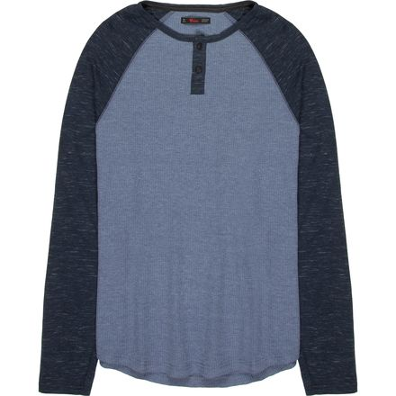 Stoic Azure Colorblock Henley - Men's