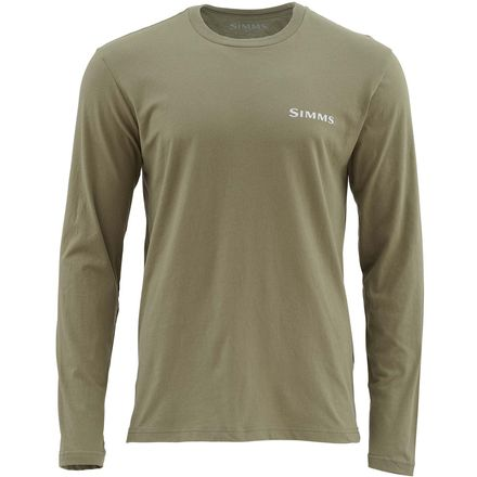Simms Woodblock Trout Long-Sleeve T-Shirt - Men's