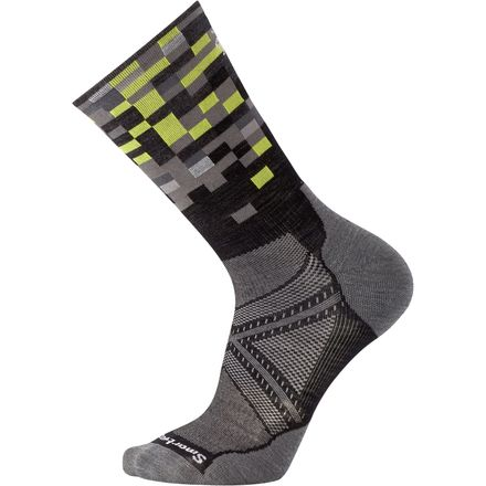 Smartwool PhD Run Light Elite Pattern Crew Sock - Men's