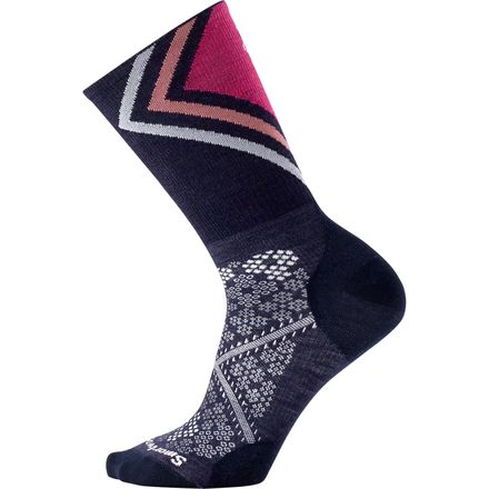 Smartwool PhD Run Ultra Light Pattern Crew Sock - Women's