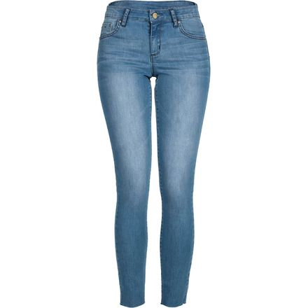 "Tractr 5 Pocket Basic Denim Skinny 9"" Leg Opening - Women's"