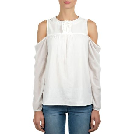 Tractr Cold Shoulder Long-Sleeve Top - Women's