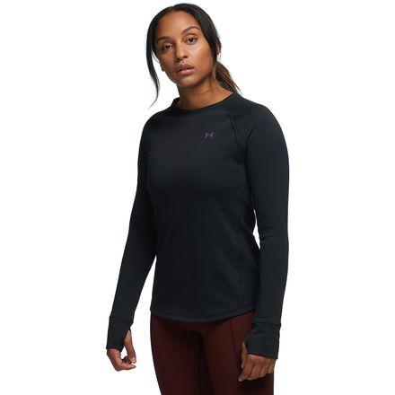 New Women/'s UA Under Amour Base 4.0 Crew Long Sleeve Shirt Large 1280942