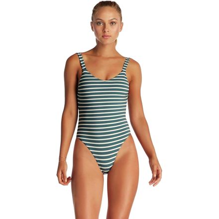 Vitamin A Leah Ribbed California Cut Bodysuit - Women's