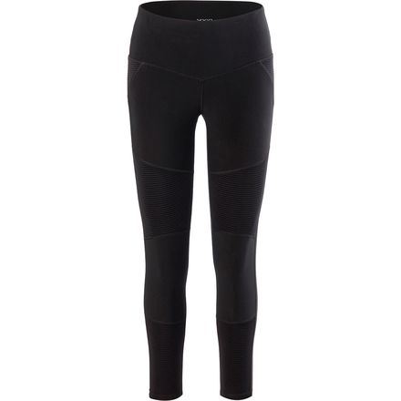 Vogo Activewear Solid Legging with Mesh Insert - Women's