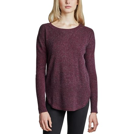 White + Warren Curved Rib Hem Crewneck Sweater - Women's