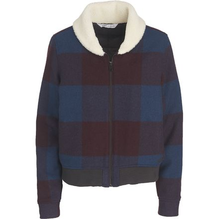 Woolrich Giant Buffalo Wool Bomber Jacket - Women's