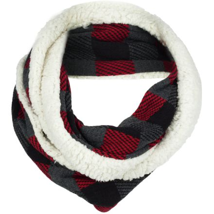 Woolrich Plaid & Sherpa Eternity Scarf - Women's