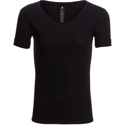 Yogalicious Roll Sleeve V-Neck Top - Women's