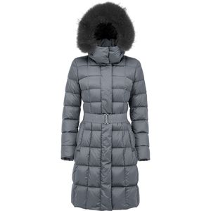 ADD Down Coat with Detachable Fur - Women's