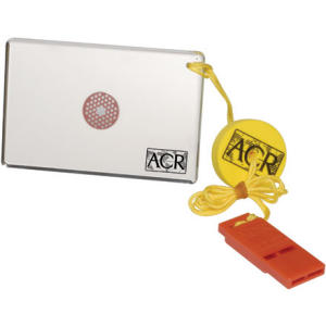 ACR HotShot Signal Mirror with Whistle, Float and WW-3 Card