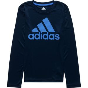 Adidas Dot Camo Logo Long-Sleeve T-Shirt - Boys'
