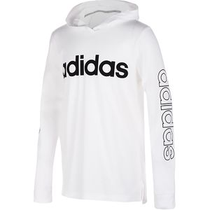 Adidas Hooded Linear T-Shirt - Boys'