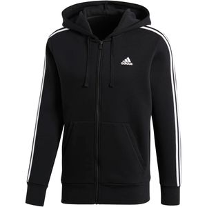 Adidas Essentials 3-Stripes Fleece Hoodie - Men's