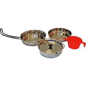 Alpine Mountain Gear Stainless Steel Mess Kit