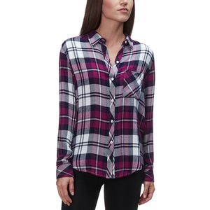 Rails Hunter Lychee/Navy/White Long-Sleeve Button Up - Women's