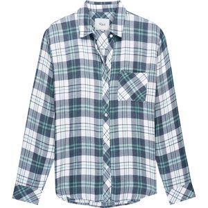 Rails Hunter White/Mint/Indigo Long-Sleeve Button Up - Women's
