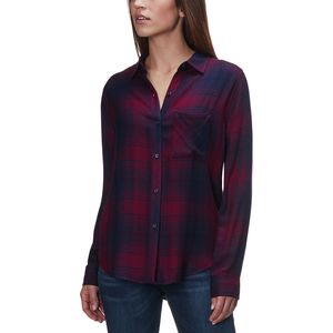 Rails Hunter Currant/Navy Long-Sleeve Button Up - Women's