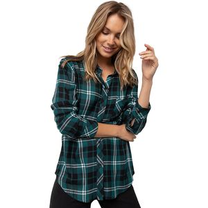 Rails Hunter Pine/Black/White Long-Sleeve Button Up - Women's