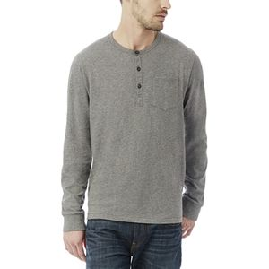 Alternative Apparel Classic Cotton Henley Shirt - Men's