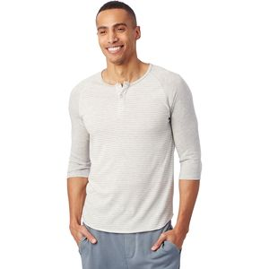 Alternative Apparel 3/4-Sleeve Raglan Henley - Men's