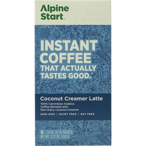 Alpine Start Coconut Creamer Instant Coffee - 5-Pack