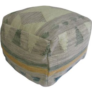 AM Textiles Pattern Pouf