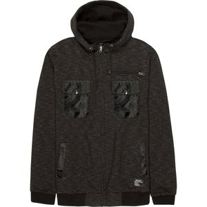 Alpha Beta Full-Zip Hoodie with Double Flap Button and Chest Pocket Detail - Men's