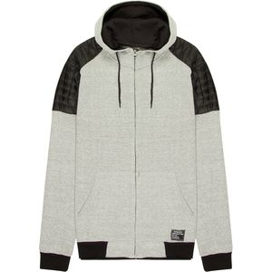 Alpha Beta Full-Zip Hoodie Wind Cheater with Zip Hood and Quilted Panel Shoulder - Men's