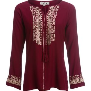 Ana Embroidered Tunic with Tassles - Women's