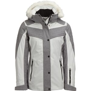 Avalanche Faux Fur Hooded Chevron Ski Jacket - Women's