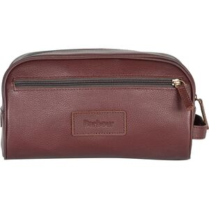 Barbour Leather Washbag