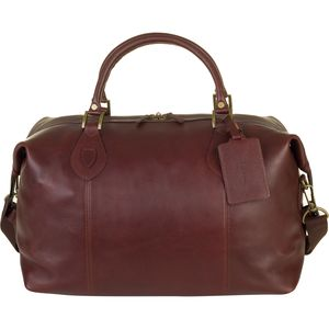 Barbour Leather Med Travel Explorer Bag