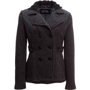 Sebby Tweed Pea Coat - Women's
