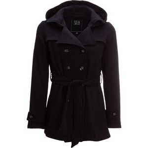 Sebby Twill Fleece Double Breasted Belted Jacket - Women's