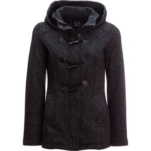 Sebby Tweed Fleece Toggle Coat - Women's