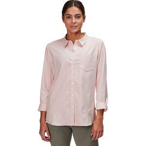 Stripe Woven Long-Sleeve Shirt - Women's