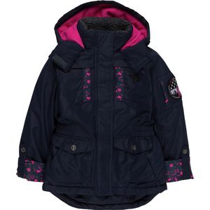 Big Chill Expedition with Floral Trim Cargo Pocket Coat - Girls'